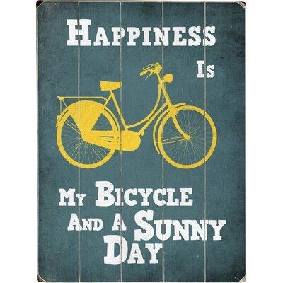 ArteHouse LLC My Bicycle and a Sunny Day Graphic Art Prin...