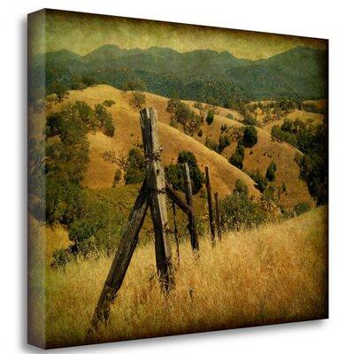 Tangletow Weathered Ranch Fence' Photographic Print on Wr...