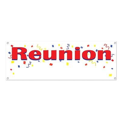 Beistle Reunion Sign Banner (Set of 12) 57517