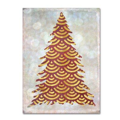 The Holiday Aisle 'Decorated Red and Gold Xmas Tree' Grap...