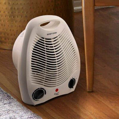 Vie Air Portable 2 Settings Office 1 500 Watt Electric Fan Compact Heater with Adjustable Thermostat 950100342M