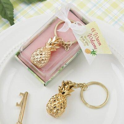 FashionCraft Pineapple Theme Keychain Favor (Set of 24) 8974