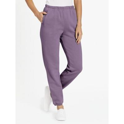 Women's Fleece Pants by Blair, Purple, Size S