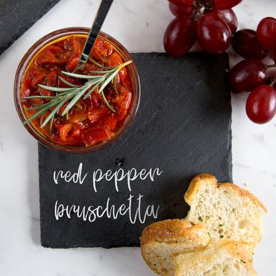 """Core 5"""" Square Black Slate Appetizer / Tasting Plate with..."""