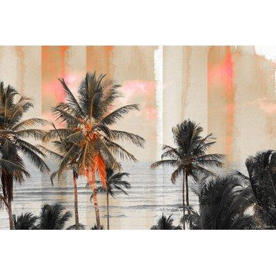 "ParvezTaj 'Bahia' by Parvez Taj Graphic Art Print on Canvas G41-57- Size: 30"" H x 45"" W, Format: White Framed"