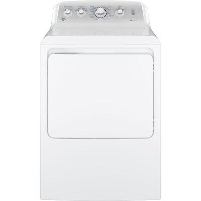 GE 7.2 Cu Ft Front Loading White Electric Dryer