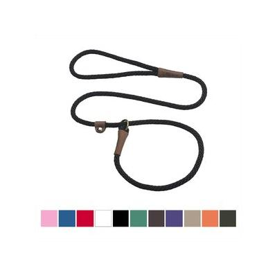 Mendota Products Small Slip Solid Dog Lead, Black, 4-ft ; Discover the timeless design and lasting quality of the Mendota Products Small Slip Solid Dog Lead. Handcrafted in the USA, this British-style lead is a leash and collar in one convenient...