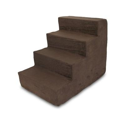 Best Pet Supplies Foam Pet Stairs, Dark Brown, 4-Step