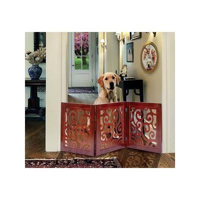 ETNA Pet Store Adjustable Scrolled-Wood Pet Gate