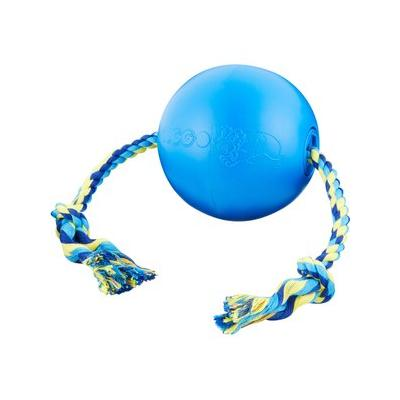 Tuggo Water-Weighted Ball & Rope Dog Toy, Small, Blue