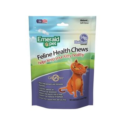 Emerald Pet Chicken Flavored Hairball Formula Grain-Free Cat Treats, 2.5-oz bag