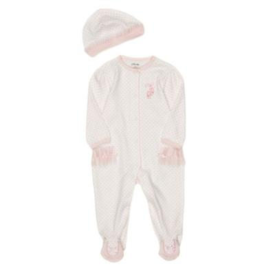 Little Me White Newborn Girl Ballerina Footie