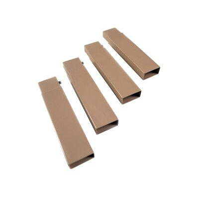 Dh Distributing Disc-O-Bed Sleeping Bags Cam O Bunk Accessory 7 in. Tan Leg Extensions (4-Pack) 19802/TAN
