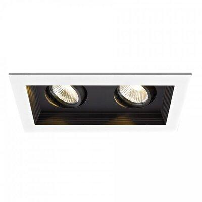 "Wac Lighting Mini Multiple 2-Light Remodel Housing 3.5"" LED Recessed Lighting Kit MT-3LD211R-F927-WT Beam Spread: 25° Color Temperature: 2700K Finish: Black"