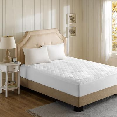 Beautyrest Cotton Blend King Heated Mattress Pad in White...
