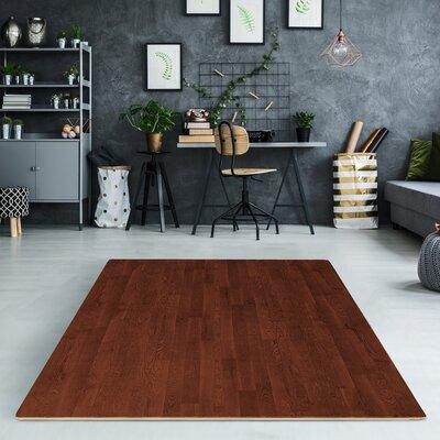 "Sorbus Interlocking Wood Print Floor Mat MAT-W Size: 24"" ..."