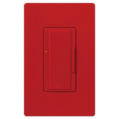 Lutron 80264 - 120 volt Hot Red 600 watt Single-Pole / 3-Way Incandescent / Halogen Electronic Low Voltage Wall Dimmer Switch