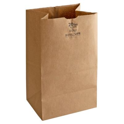 Duro Paper Bag Duro Heavyweight Six Pack Brown Paper Bags...