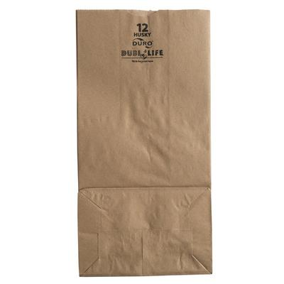 Duro Husky Heavy-Duty 12 lb. Brown Paper Bag - 500/Bundle