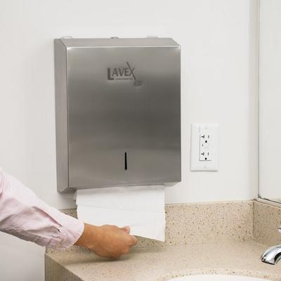 Choice Lavex Janitorial White M-Fold (Multifold) Towel - ...