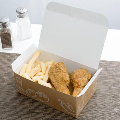 "7"" x 4 1/4"" x 2 3/4"" Take Out Lunch / Snack / Chicken Box..."