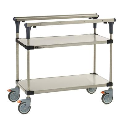 Metro MS1836-FSFS 2 Level Mobile PrepMate MultiStation w/ Solid Shelving - 38L x 19.4W x 39.13H