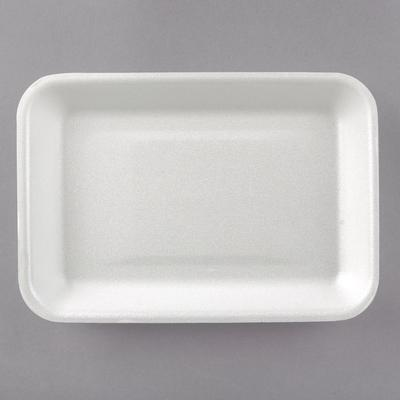 "Genpak Foam Meat Tray, White 8 1/4"" x 5 3/4"" x 1"" - 1002 ..."