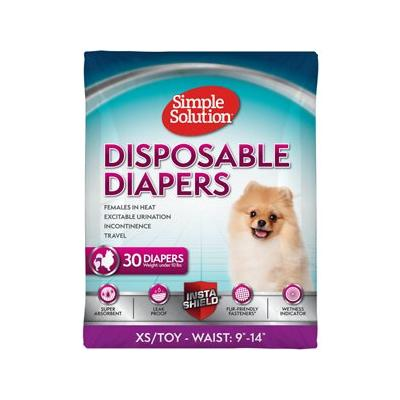 Simple Solution Disposable Diapers, 30 count, X-Small/Toy