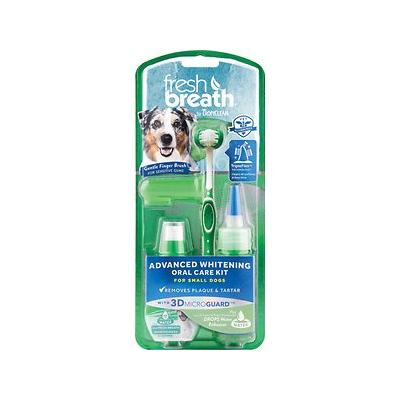 TropiClean Fresh Breath Advanced Whitening Oral Care Kit, Small Dogs