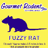 Frozen Fuzzy Rat - 10 Count, 10 CT