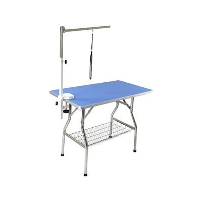 Flying Pig Grooming Heavy Duty Dog & Cat Grooming Table with Arm, Medium, Blue