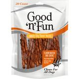 Good 'n' Fun Smoky BBQ Flavor Twists Dog Chews, 20 count