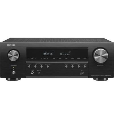 5.2ch home theater receiver 5-channel amplifier; 75 watts per channel with 2 channels driven,built-in Wi-Fi and Bluetooth for easy wireless music streaming,HEOS Built-in technology offers internet music streaming and wireless whole home audio with...