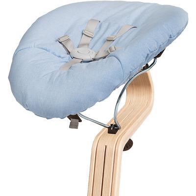Nomi Baby Base 2.0 Bouncer - Coffee with Blue Cushion