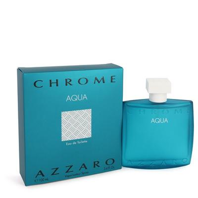 Chrome Aqua For Men By Azzaro Eau De Toilette Spray 3.4 Oz