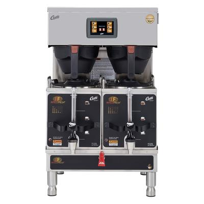 Curtis G4GEMTIF10A1000 Automatic Twin Satellite Coffee Brewer w/ 1.5 gal Capacity & Dispenser, 220v/1ph on Sale