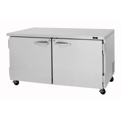 Turbo Air PUF-60-N 60.25 Undercounter Freezer w/ (2) Sections & (2) Doors, 115v