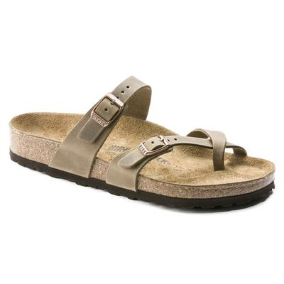 BIRKENSTOCK Mayari Oiled Leather Tobacco Brown Thong Sandals
