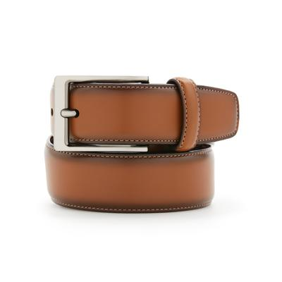 Perry Ellis Portfolio Men's Leather Amigo Dress Belt - Luggage