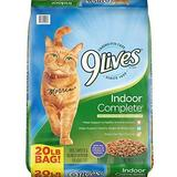 9 Lives Indoor Complete with Chicken & Salmon Flavor Dry Cat Food, 20-lb bag