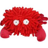 Multipet Sea Shammies Squeaky Plush Dog Toy, Crab