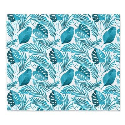 Ebern Designs Leaves Print Wall Tapestry Polyester In Blue Cream Size Large 33 40 Wayfair A04b91a97cc64d4cb024ba76688aba5c Shefinds