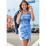 TIE DYE Lounge Tank Dress Loungewear - Blue/multi