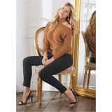 ONE Shoulder Turtleneck Sweaters - Brown