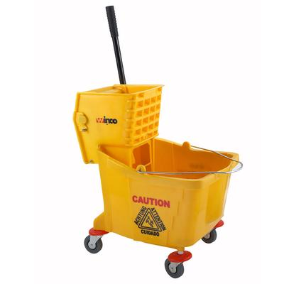 Winco MPB-36 Mop Bucket with Wringer, 36 quart, Yellow on Sale
