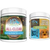 K9 Nature Supplements Allergy Bundle with All-Clear Allergy Treats & Turmeric Curcumin Bone Broth Dog Supplement, 45-count