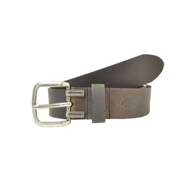 Dickies Unisex Cut Edge Logo Leather Belt - Dark Brown Size Xl (1DI02M7)