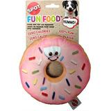 Ethical Pet Fun Food Donut Squeaky Plush Dog Toy