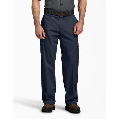 Dickies Men's Flex Relaxed Fit Straight Leg Cargo Pants - Dark Navy Size 32 30 (WP598)
