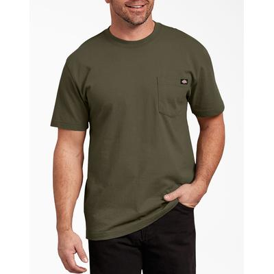 Dickies Men's Short Sleeve Heavyweight T-Shirt - Military Green Size 4 (WS450)